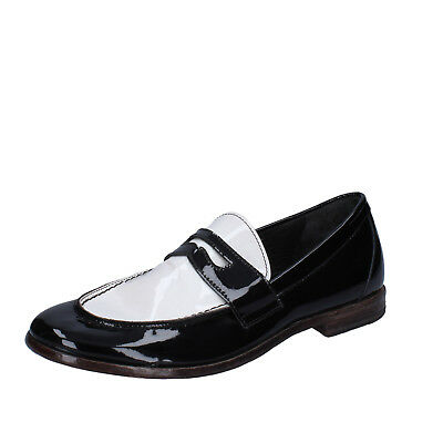 MEN'S SHOES MOMA 9 (EU 42) loafers black white patent
