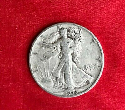 1945-S Walking Liberty 90% Silver US Half Dollar Beautiful, great details..VF-XF