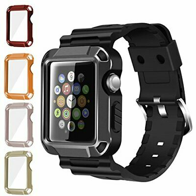 iiteeology Compatible Apple Watch Band, Rugged Protective iWatch Case and Band S
