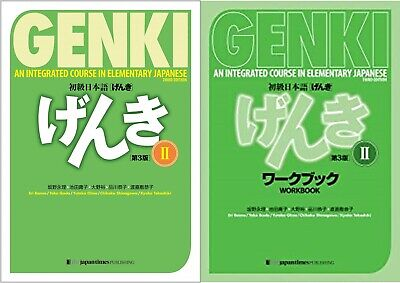 GENKI 2 Text & WorkBook Set An Integrated Course in Elementary Japanese F/S