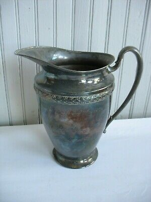 "VINTAGE 1920-60'S SILVER PLATED PITCHER EPNS 991 8 3/4"" Tall"