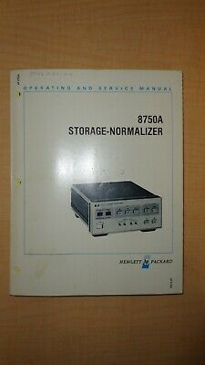 HP 8750A Storage Normalizer Operating and Service Manual 8750 6F B3