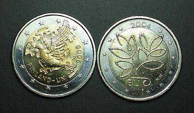 2004 + 2005 FINLANDE 2 euro COMMEMORATIVE  circulated