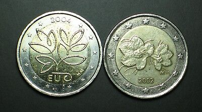 2 euro 2002 + 2004 FINLANDE 2 euro COMMEMORATIVE  circulated