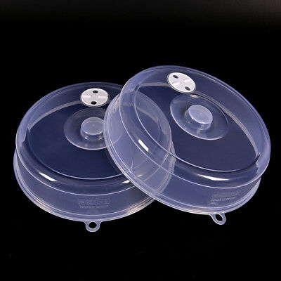 Clear Microwave Plate Cover Food Dish Lid Ventilated Steam Vent Kitchen OD