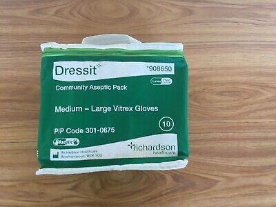 Dressit Community Aseptic Pack Medium-Large Vitrex Gloves-Pack Of 10 In Holdall