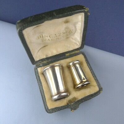 Rare Antique Sterling Silver Hearing Aids Miniature Trumpet Ear Tubes