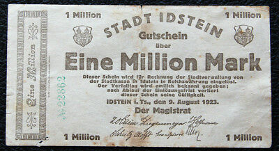 Idstein , 1 Million Mark vom 09.08.1923