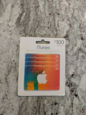 Itunes/App Store Gift Card $100 (4 x $25) Fast Free Shipping!