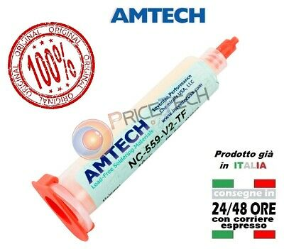 AMTECH 10cc NC-559-V2-TF No-clean Tacky Solder Flux with UV-Tracer. ORIGINAL