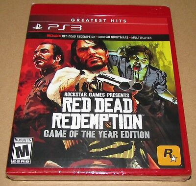 Red Dead Redemption: Game of the Year Edition (Sony PlayStation 3) Brand New