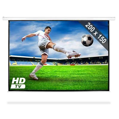 "100"" Projector Screen Hdtv 200 X 150 Cm Office Presentation Home Cinema"