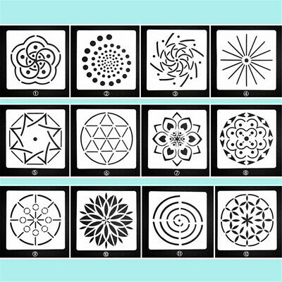 Decorative Painting template Mandala Auxiliary Scrapbooking Layering Stencils