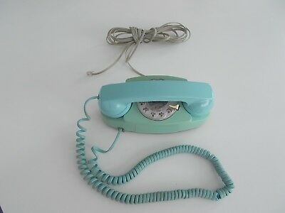 Western Electric Blue Princess Phone Rotary Dial 702 Bell System Desk Telephone