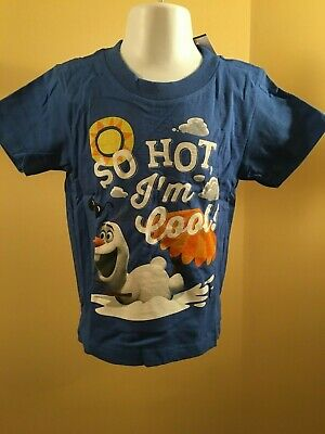 822ed88f6432 DISNEY FROZEN OLAF the snowman Im cool toddler boy graphic t-shirt ...