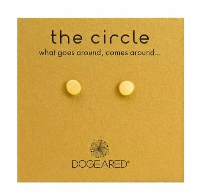 Dogeared Circle 925 Gold Dipped Post Stud Earrings What Goes Around Comes Around