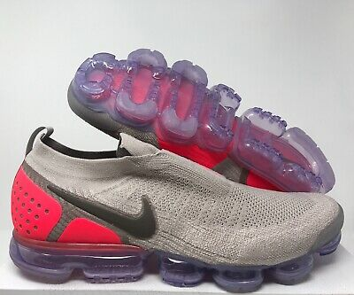 huge selection of 73519 5fb62 Nike Air Vapormax Fk Flyknit Moc 2 Moon Particle-Solar Red Sz 15  Ah7006