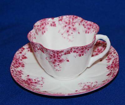 Vintage Shelley Bone China Pink Dainty Cup & Saucer