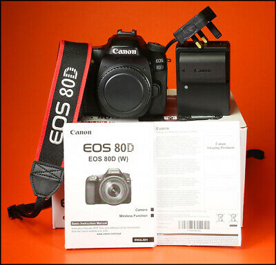 Canon EOS 80D DSLR Camera, Sold With Battery & Charger Boxed Only 4,653 Shots