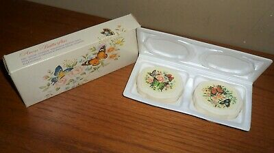 Vintage Avon BUTTERFLIES  2 Special Occasion Hostess SOAPS in Original BOX