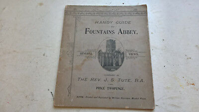 vintage handy guide to fountains abbey