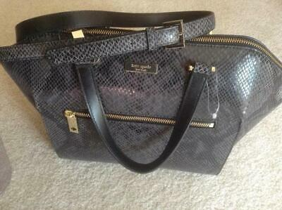 40c808845d04 NEW KATE SPADE Parliament Square Savannah Snakeskin Large Leather ...