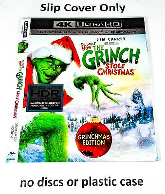 How the Grinch Stole Christmas 4K - Slip Cover Only (no blu ray, 2000) Grinchmas