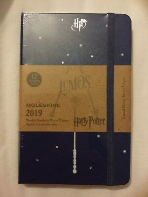 Moleskine Harry Potter 2019 Pocket Notebook Diary Week to View, Limited Edition