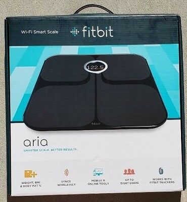 NIB Fitbit Aria Wi-Fi Smart Scale Black