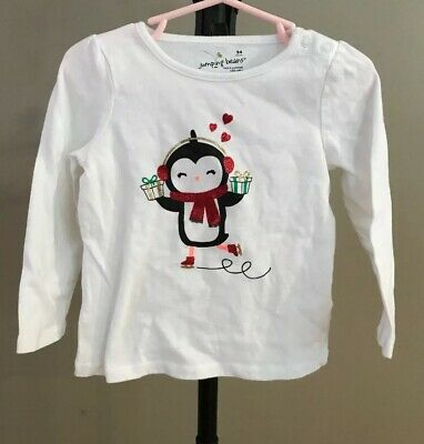 White toddler penguin girls shirt size 24 month Top By Jumping Beans NWT fb6f1f67f
