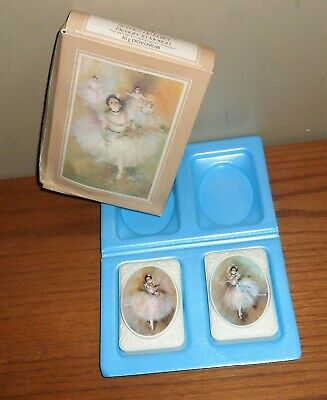 Vintage Avon BEAUTY IN MOTION 2 Special Occasion Ballerina SOAPS in Original BOX