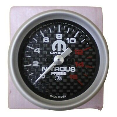 Nitrous Pressure Gauge Mopar NOS Carbon Face Full Sweep OEM Boost Vacuum
