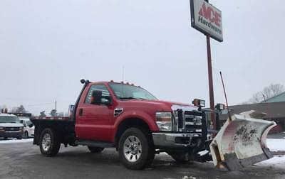 2008 Ford F-350 XLT 2dr Regular Cab 4x4 LB LOADED XLT 4x4 Auto BLIZARD POWER PLOW 6.4 DIESEL, FLAT BED, NO ISSUES NO RUST