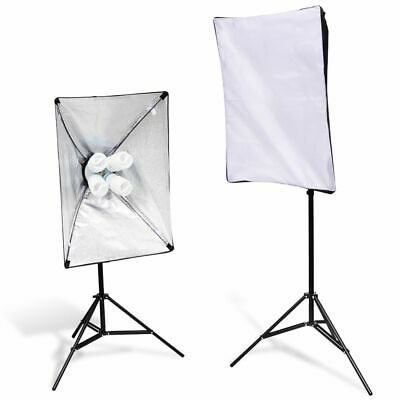 vidaXL 2 Soporte de Luces Softbox Umbrella Luz Soporte Kit Estudio Profesional