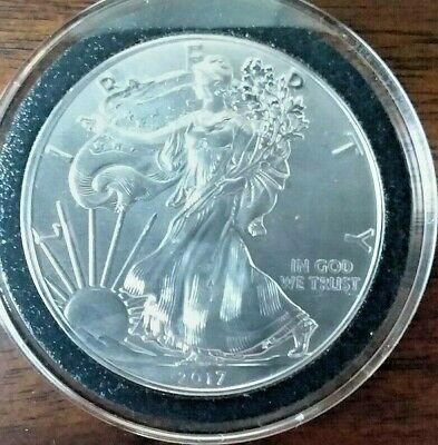 2017 BU American Silver Eagle in Air-Tite - 1 OZ .999 silver
