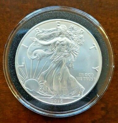 2016 BU American Silver Eagle in Air-Tite - 1 OZ .999 silver