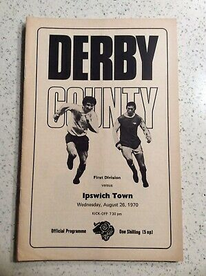 Derby County v Ipswich Town 26th August 1970