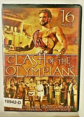 DVD Movie CLASH OF THE OLYMPIANS   16 MOVIES   Gordon Mitchell.     11