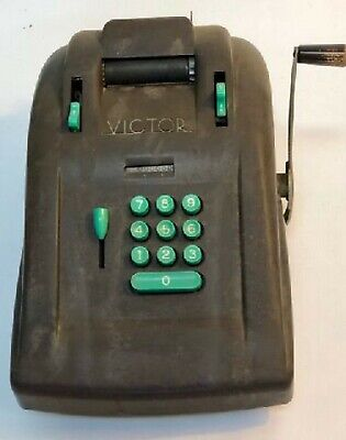 Vintage VICTOR MANUAL ADDING MACHINE BAKELITE