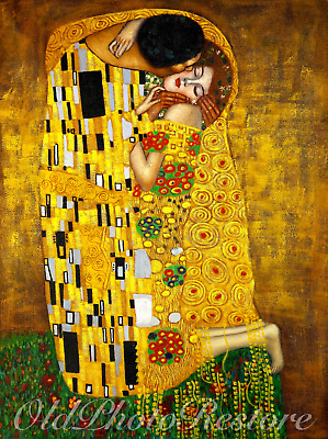 GUSTAV KLIMT THE KISS FINE ART PRINT. Matte, Semi-Gloss, Gloss. Highest Quality.