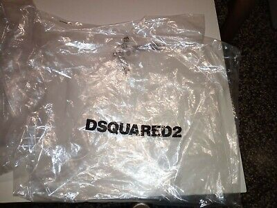 set of 5 dsquared transparent plastic dust cover bag with black printed logo