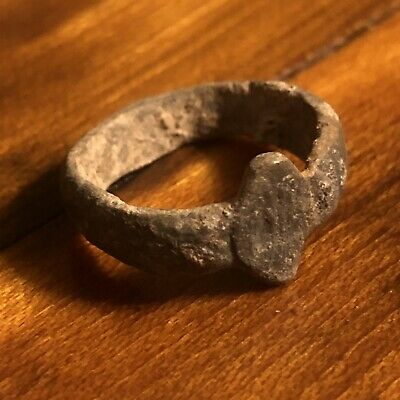Rare Ancient Or Medieval Wedding Ring Roman Byzantine European Jewelry Artifact