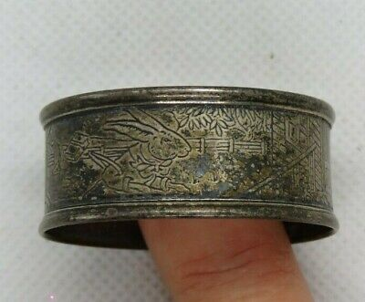 Webster Sterling Silver Peter Rabbit Nursery Rhyme Round Napkin Ring Antique