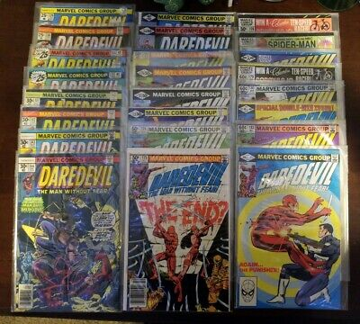 Daredevil lot. High grade. 170, 174, 176, 181 (174-206 all) and more key issues