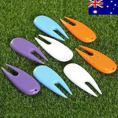 Portable 8PCs Golf Divot Tool Score Marker Putting Fork Groove Cleaner AU STOCK