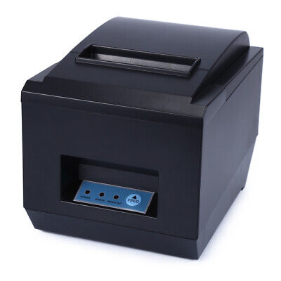 ZJ-8250 80mm Thermal ESC/POS Receipt Paper Roll Printer 250mm/s USB Cash Drawer