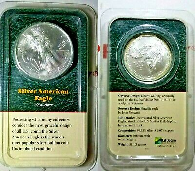 2000 Silver American Eagle Dollar, 1oz .999 Uncirculated & SEALED Littleton Coin
