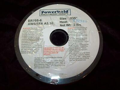 PowerWeld .035 2 lb. pound Carbon Steel Mig Welding Welder Wire Spool ER70S-6
