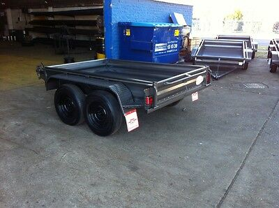 New 8X5 Heavy Duty High Side Tandem Trailer With Free Rego Spare & Jockey