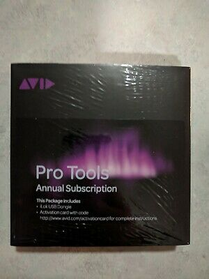Avid Pro Tools 2018 / 12 Annual Subscription Software New with ilok. Boxed